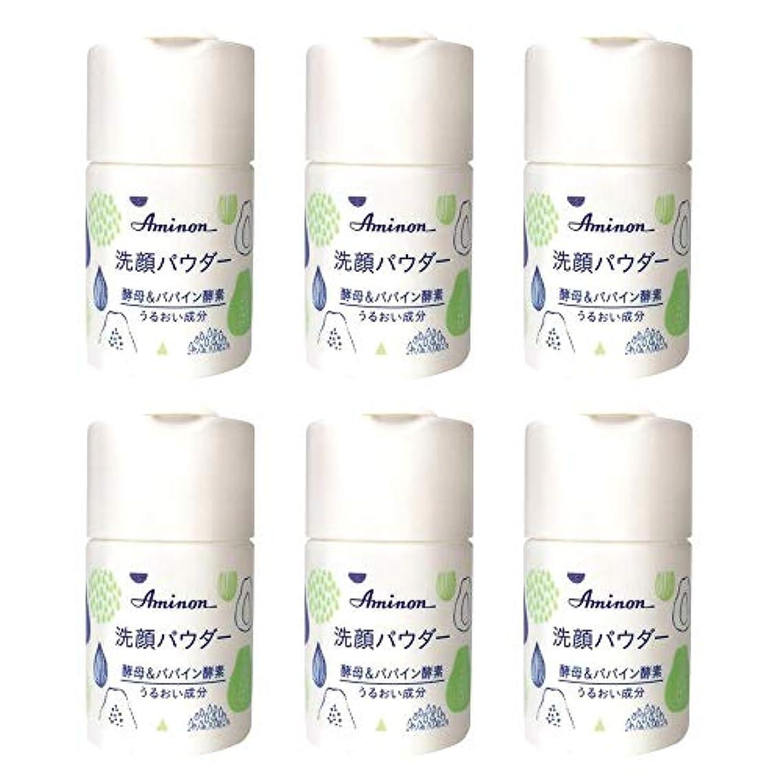 化粧再現するアミノン パパイン酵素配合 洗顔パウダー 50g (6本セット)