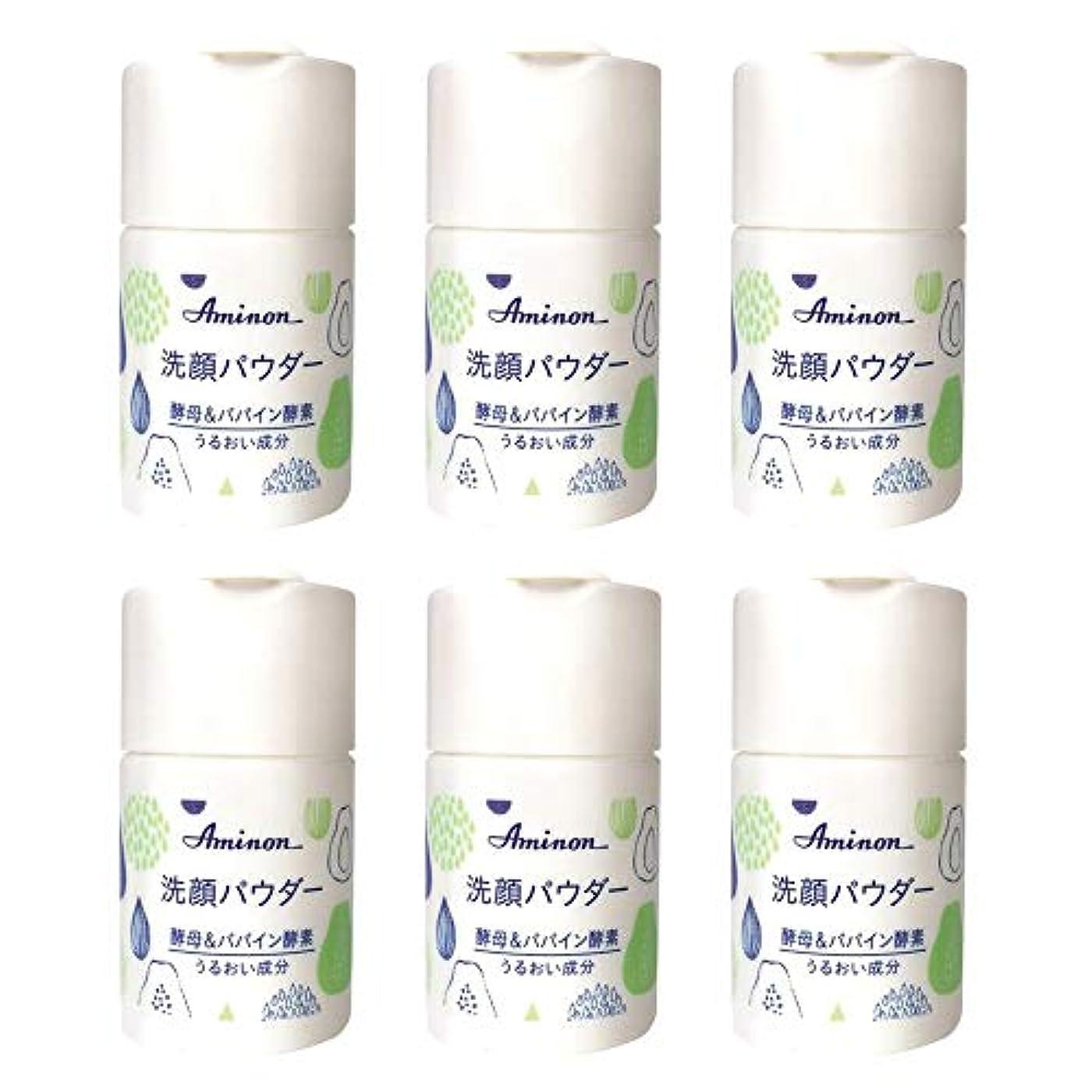 喉頭人間幸運アミノン パパイン酵素配合 洗顔パウダー 50g (6本セット)