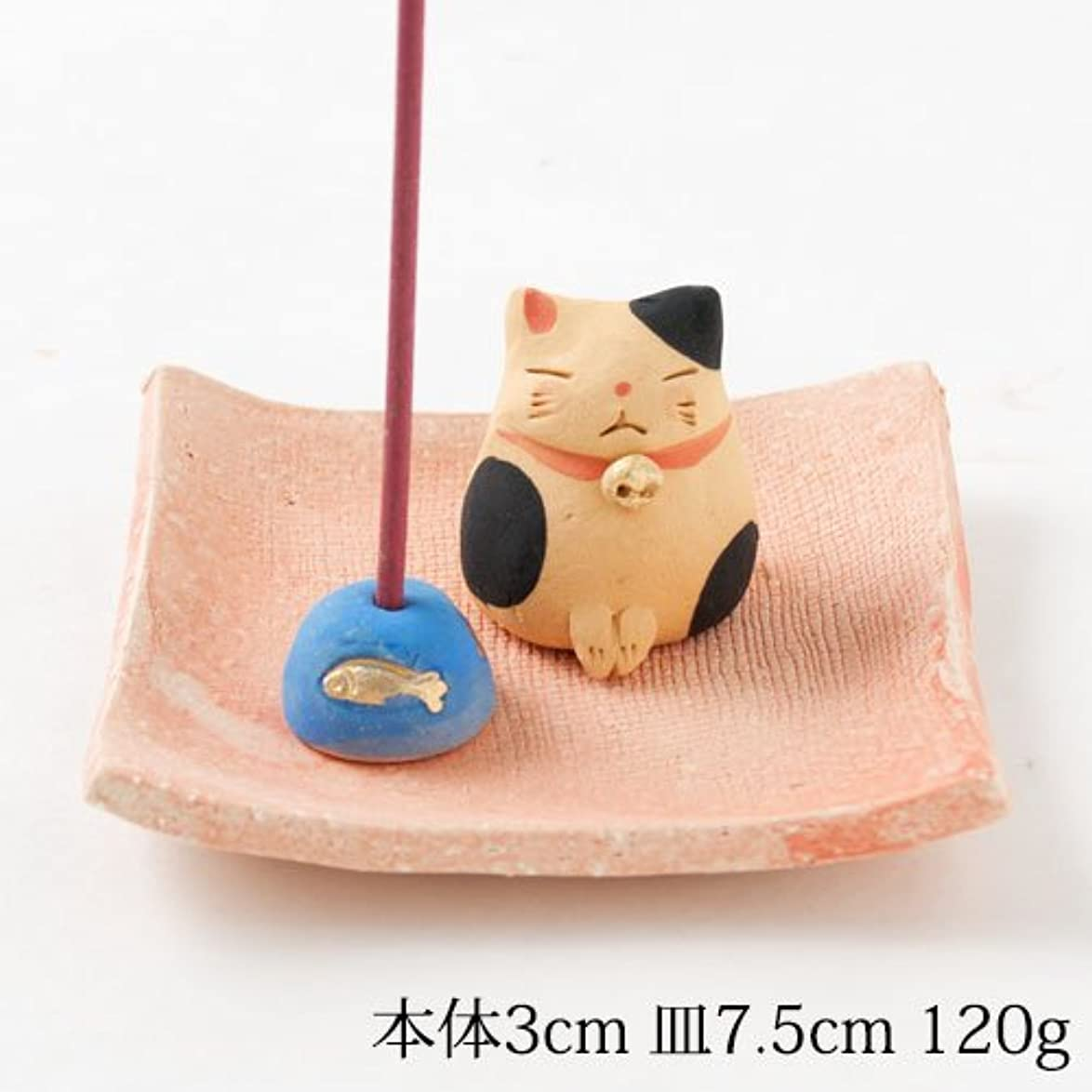 知覚的市町村ヘクタールお辞儀猫香立 (K3440)Incense stand