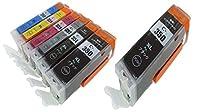 CANON 351/350 6色+BK=7本セット大容量【BCI-350XL BK×2】+【BCI-351XL BK/C/M/Y/GY】ICチップ残量表示検知機能付き Mt.Smile製互換インク カートリッジ【365日保証】サービス
