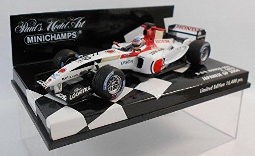 【ミニチャンプス】1/43スケールホンダ  F1チーム B・A・R Honda 006 #10 佐藤琢磨 (400_040110)MINICHAMPS F1