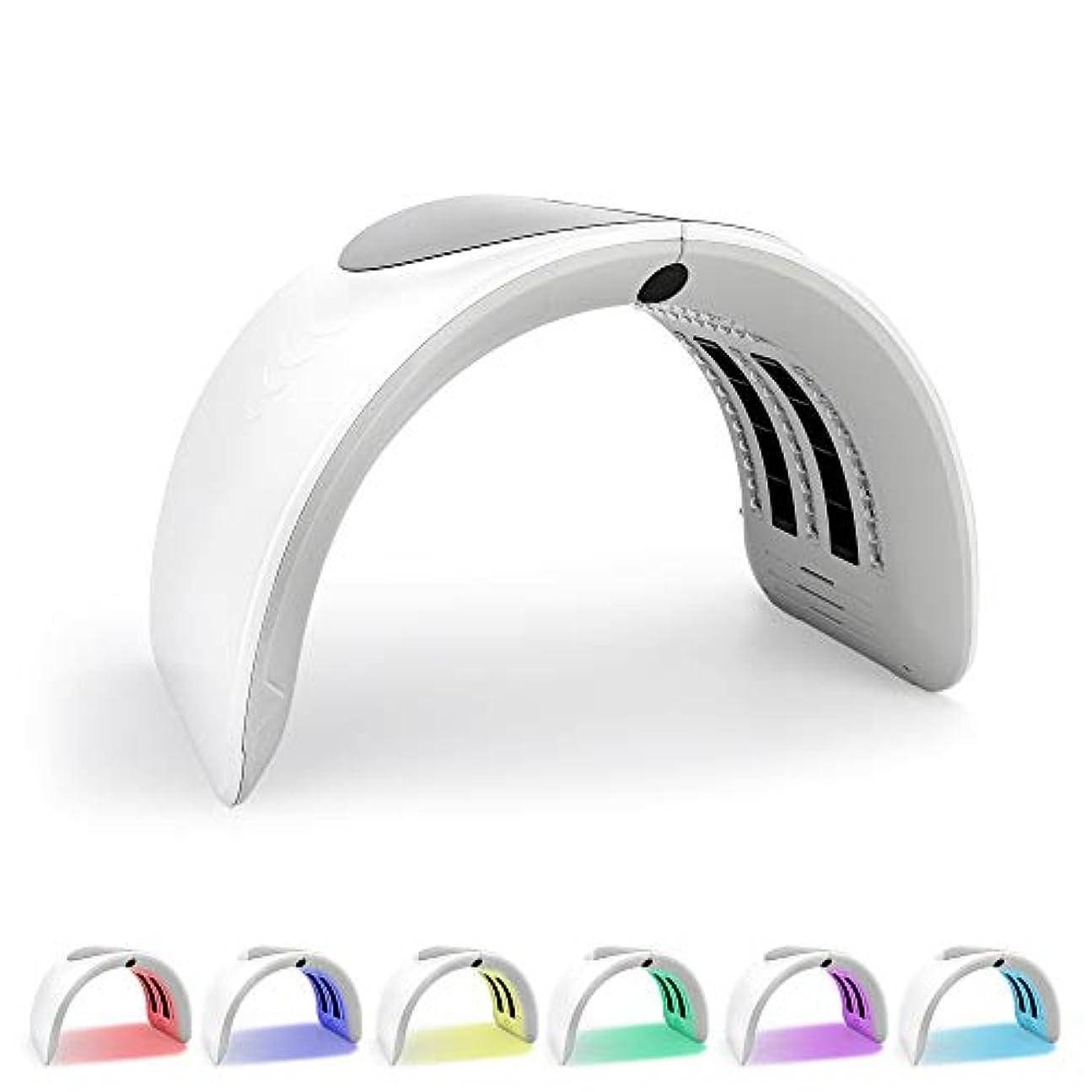 枯れる続ける振動する折り畳み式の7色PDT LEDライトセラピーLEDは、にきび治療フェイスホワイトニング肌の若返りツェッペリンセラピーは、美容機器をマスクマスク