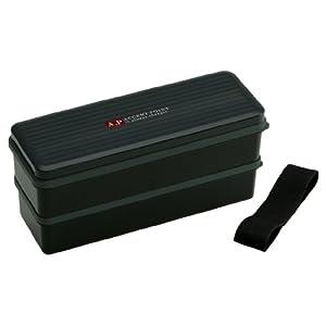 スケーター 弁当箱 2段 シリコン製内蓋付 900ml 大容量 ランチボックス アクセントポイント ブラック 男性用 日本製 SSLW9