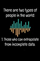 There Are Two Types Of People In The World Those Who Can Extrapolate From Incomplete Data: Dot Grid Page Notebook Gift For Computer Data Science Related People.