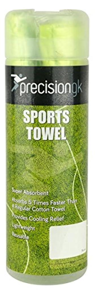 高度人工もっともらしいPrecision Goalkeepingスポーツ軽量冷却レリーフタオル66 x 43 cm – グリーン