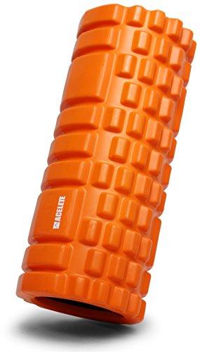 ACELETE フォームローラー グリッドフォームローラー トリガーポイント&筋膜リリースモデル 説明書付き (オレンジ)