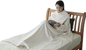 西川 リビング あったか 着る毛布 カラーパレット クリーム