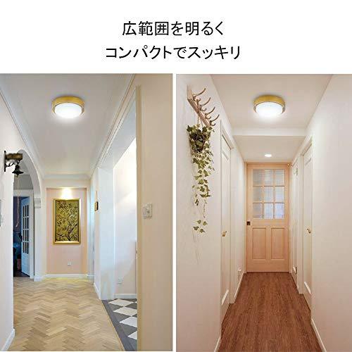 『LEDシーリングライト 木目ライト シーリングライト工事不要 簡単取付 木目調 小型 玄関ライト トイレ 廊下ライト 和室 寝室 ベランダ 階段 照明器具 おしゃれ (10W 昼白色)』の5枚目の画像