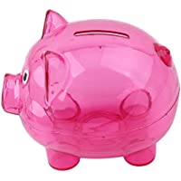 VWH Piggy Bank Coin Money Cash Collectible Saving Box Small Pig Shape Piggy Bank Birthday Gift(Rose Red)