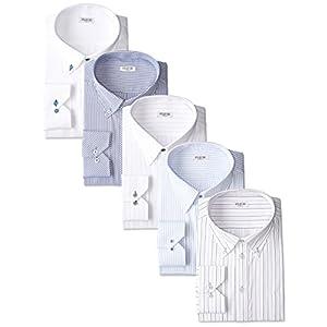 (アトリエサンロクゴ) atelier365 ワイシャツ 5枚セット 選べる9種類 長袖 ワイシャツ 形態安定 Yシャツ ビジネス ビジネスシャツ/at101-LL-43-84-AT101-Eset-AW-16