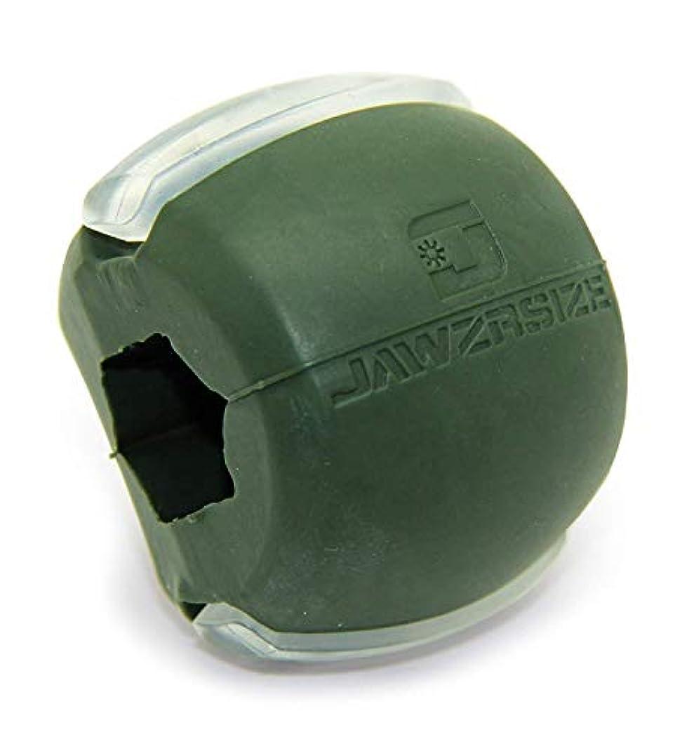 性差別ポーチアンカーJawzrsize フェイストナー、ジョーエクササイザ、ネックトーニング装置 (50 Lb. 抵抗) レベル3 - ミリタリーグリーン