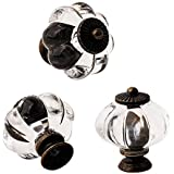 Set of 12 Antique Acrylic Pumpkin Knobs, Handles Pulls for Cabinets, Cupboard Dresser, Drawers, Kitchen Furniture or Kids Roo