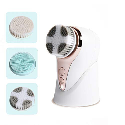 洗顔ブラシ、電気顔マッサージャーのブラシ防水、3つのブラシの...