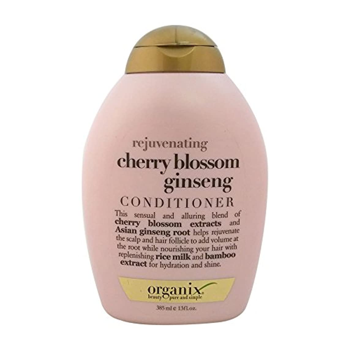 素晴らしさ転用ラボOrganix rejuvenating hair conditioner cherry blossom ginseng - 13 oz (並行輸入品)