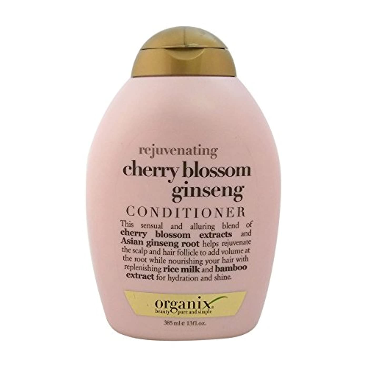 歯車ブロックバルセロナOrganix rejuvenating hair conditioner cherry blossom ginseng - 13 oz (並行輸入品)