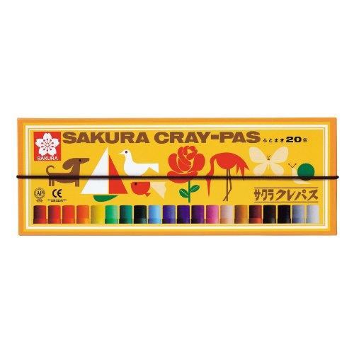 サクラクレパス クレパス 20色 ゴムバンド付き LP20R