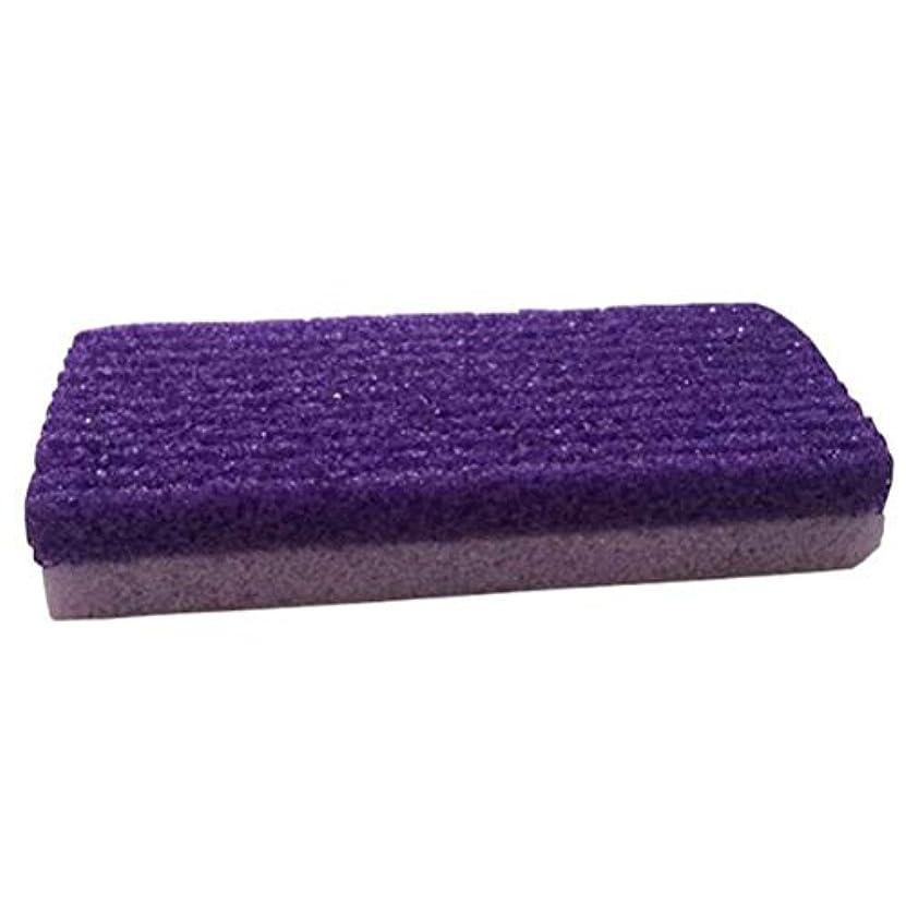 征服ヒューマニスティック子羊HEALLILY 1本足スクラバーストーン軽石石足カルスリムーバーひびの入ったヒールデッドスキンコーンスムージングと剥離フットファイルペディキュアツール(紫)
