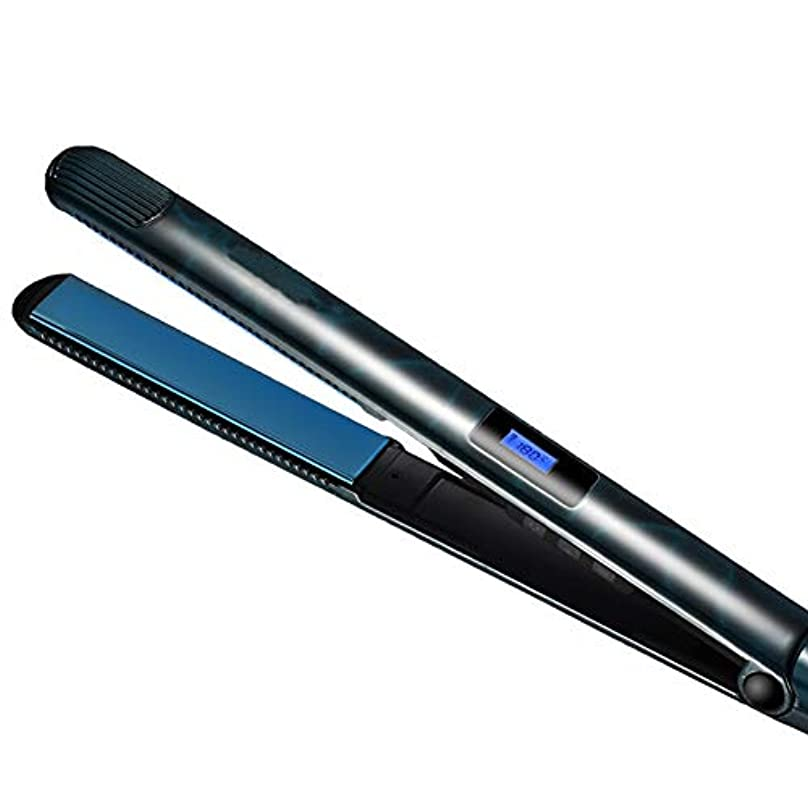 鮫プリーツ冷酷なセラミックストレートヘアアイロン2で1ストレートヘアアイロンとカーリングアイロンセラミックストレートプレートイオンLed液晶ディスプレイストレートヘアアイロン