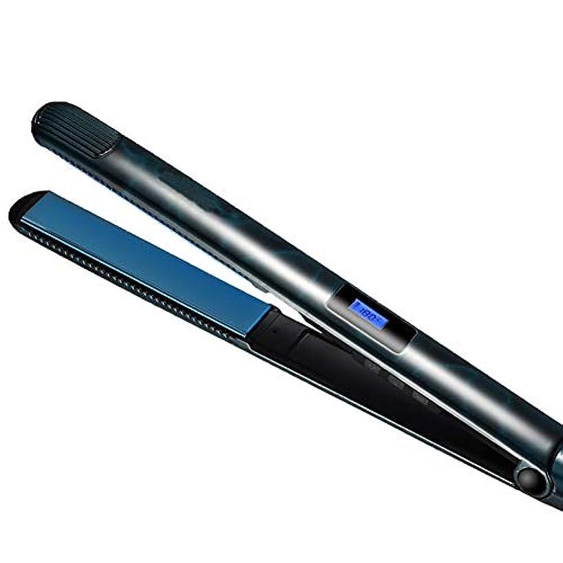 巻き取り日焼け制限するセラミックストレートヘアアイロン2で1ストレートヘアアイロンとカーリングアイロンセラミックストレートプレートイオンLed液晶ディスプレイストレートヘアアイロン