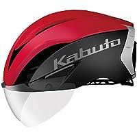OGK KABUTO(オージーケーカブト) ヘルメット ヘルメット AERO-R1 マットブラックレッド-4