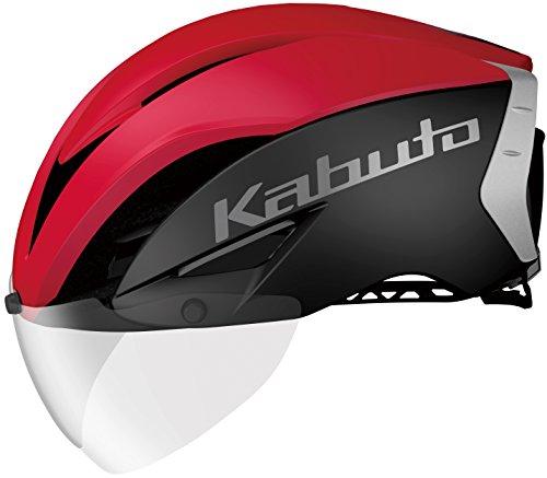 OGK KABUTO(オージーケーカブト) ヘルメット AERO-R1 マットブラックレッド-4 L/XL (頭囲 59cm~61cm)