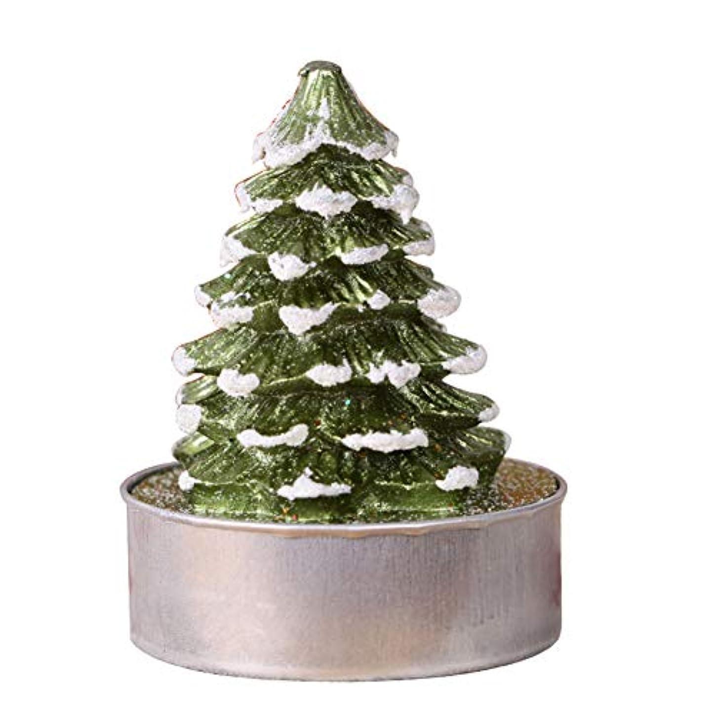 罪人姪摂氏2点セット、クリスマスの手工芸品のキャンドル、装飾手描きのクリスマスツリーの大きな茶ワックス