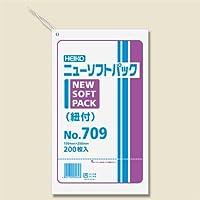 HEIKO ポリ袋 透明 ニューソフトパック 0.007mm No.709 紐付 200枚/62-0997-09