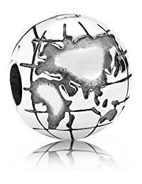 PANDORA Charms Sterling Silver Original Earth Globe Clip