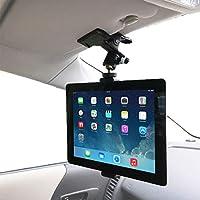 【Nanmara】車載用 iPad タブレット クリップ ホルダー 強力クリップでしっかり固定 いろんな場所で使えるホルダー 取付場所はサンバイザー・後部座席など自由自在 車載 スタンド(タブレット用)