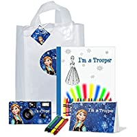 Frozen anna- I ' m a Trooperギフトバッグ–- Goodiesのフル。Be Brave。Be Strong。( pkg120)