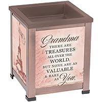 Elanze Designs Grandma Treasures 銅調金属電気ワックスタルトとオイルガラスウォーマー