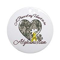 愉快なクリスマスオーナメント A Piece of My Heart is in Afghanistan オーナメント 丸型 クリスマス ホリデーオーナメント クリスマスツリーデコレーション 3インチ