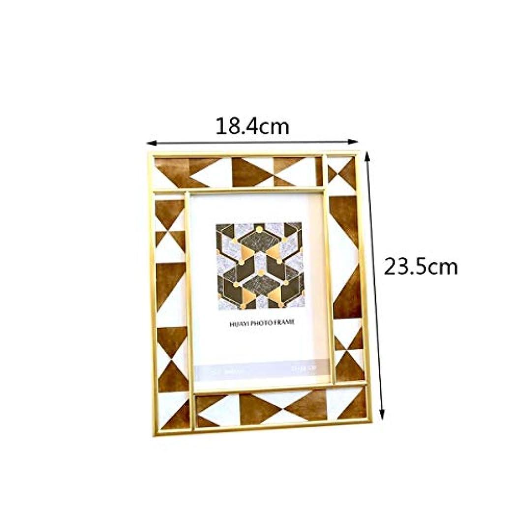 組み込む肝クライアントWXZD ヨーロッパスタイルのアメリカのリビングルームの装飾フォトフレーム、装飾、6インチ7インチ、クリエイティブホームスタディ寝室の装飾 (Color : B)