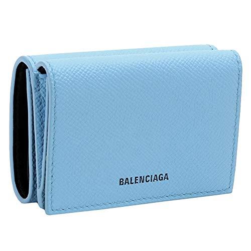 [バレンシアガ] 財布 3つ折り BALENCIAGA コンパクトサイズ コインケース 558208 0OTG3 4870 BABY BLUE [並行輸入品]