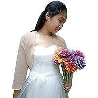 YuRongsxt Bolero Jacket 3/4 Sleeve Shrug wrap Bridal Cover up for Wedding Evening Dresses C13