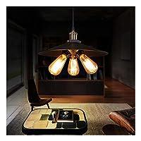 HN Lighting ビレッジレトロペンダントライトアイアンメタルスプレー塗装レストランバーコーヒーショップフロアE27ホルダースリーヘッドエジソンランプ
