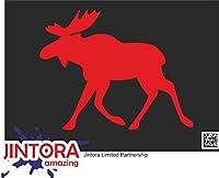 JINTORA ステッカー/カーステッカー - Sweden - スウェーデン - 126x99 mm - JDM/Die cut - 車/ウィンドウ/ラップトップ/ウィンドウ - 赤