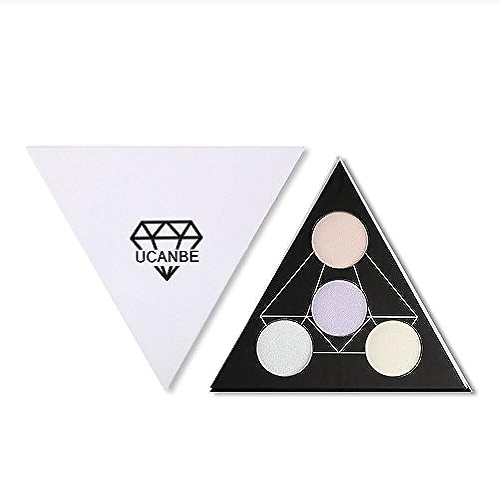 主要な不安定提出するAkane アイシャドウパレット UCANBE 人気 魅力的 ハイライト 綺麗 キラキラ おしゃれ 三角 防水 長持ち チャーム 持ち便利 Eye Shadow (4色)