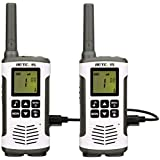 Retevis RT45 Walkie Talkie Rechargeable FRS VOX Call Tone Baby Monitor Flashlight 121 Private Codes 22 Channel Small Security 2 Way Radio(2 Pack)
