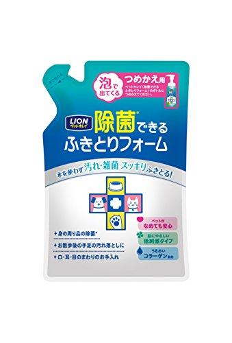 ペットキレイ 除菌できるふきとりフォームつめかえ用 200ml