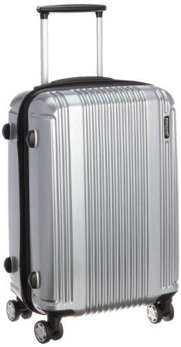 [バーマス]BERMAS スーツケース PRESTIGEII 49cm 34L 2.7kg ポーチ付 ファスナータイプ 機内持込サイズ HINOMOTOキャスター TSAロック 60262-22(シルバー)