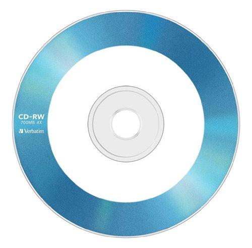 三菱ケミカルメディア Verbatim  くり返し記録用 CD-RW SW80QM5V1 (レーベル5色/1-4倍速/5枚)