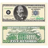 Set of 10 Bills - $500.00 Five Hundred Dollar Casino Party Money by American Art Classics [並行輸入品]
