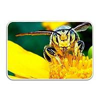 Niaocpwy Bee Welcome Doormat-屋外/屋内での使用に最適なカラー/サイジング 80x50cm