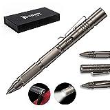 WUBEN タクティカルペン USB充電式LEDライト搭載 防犯用タングステンボールペン 高品質ボールペン芯内蔵 多機能ペン (グレー)