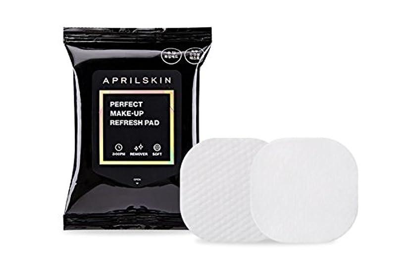 クリア退却回転[APRILSKIN] エイプリルスキンパーフェクト修正化粧パッド 55g 30枚 / PERFECT MAKE-UP REFRESH PAD [並行輸入品]
