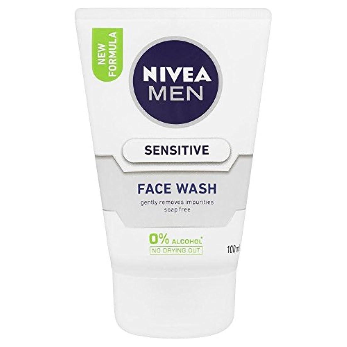立ち寄る安心させるミュートNivea Men Sensitive Face Wash (100ml)