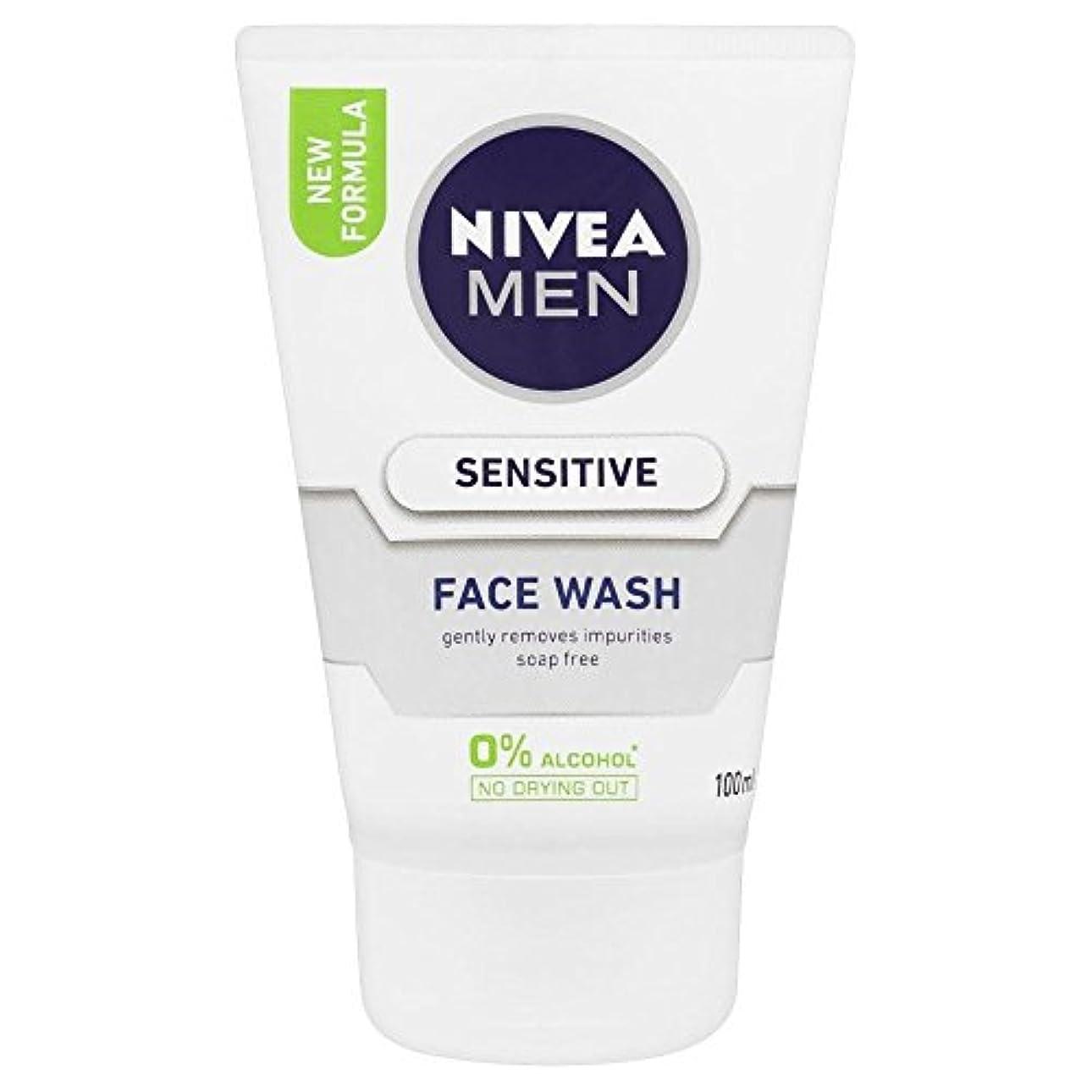 非武装化メガロポリス気づくなるNivea Men Sensitive Face Wash (100ml)