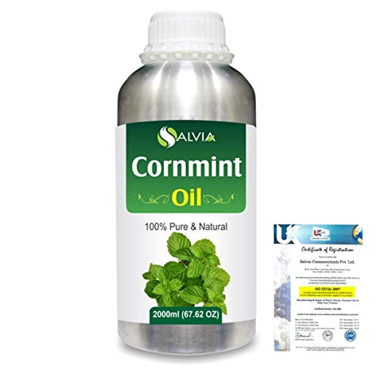 アイドル九月衛星Cornmint Oil (Mentha arvensis) 100% Natural Pure Essential Oil 2000ml/67 fl.oz.