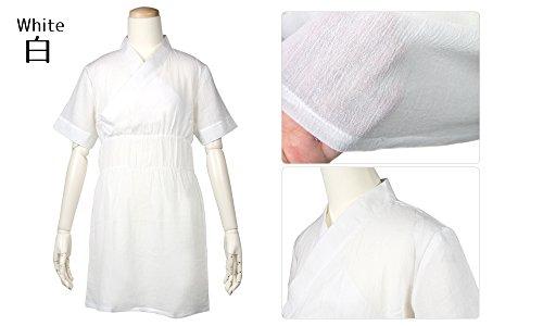 (キョウエツ) KYOETSU レディース洗える夏肌襦袢 ゆかた肌着インナー 浴衣スリップ 白 (白)